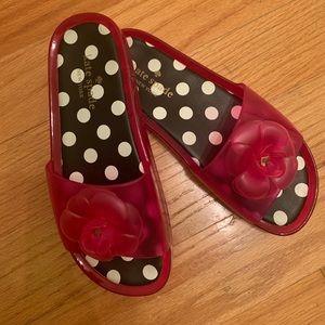 Kate Spade Flower/Polka Dots Slide Sandals